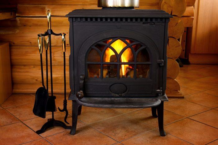 газовое отопление с помощью камина