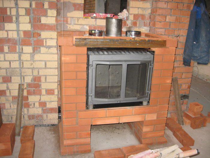 печь-камин с воздушным отоплением