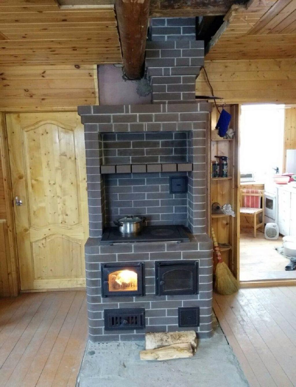 печка в маленький домик