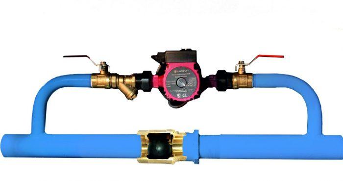 схемы установки циркуляционного насоса