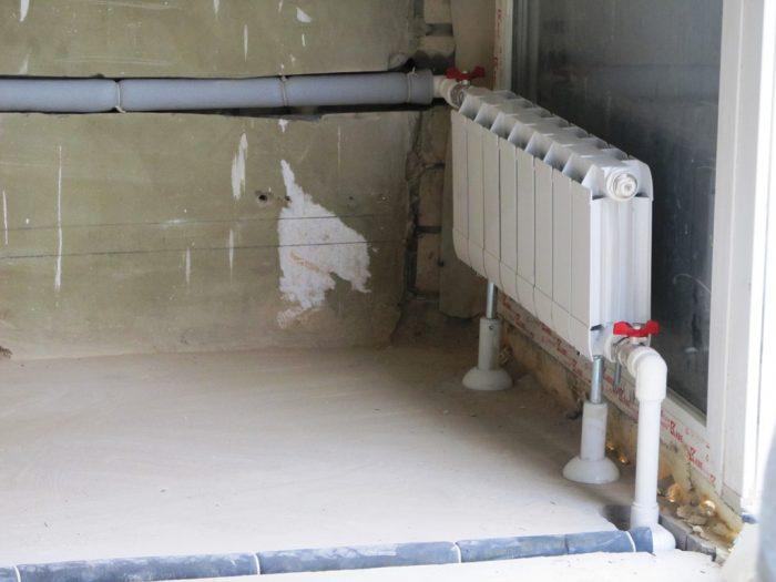 скрытая прокладка труб отопления