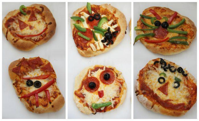 мини пиццы на новый год