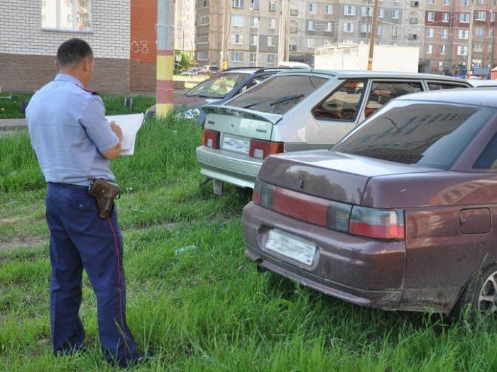 штраф за парковку во дворе