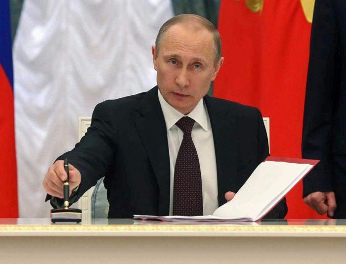 Путин подписал законы на 2019 год