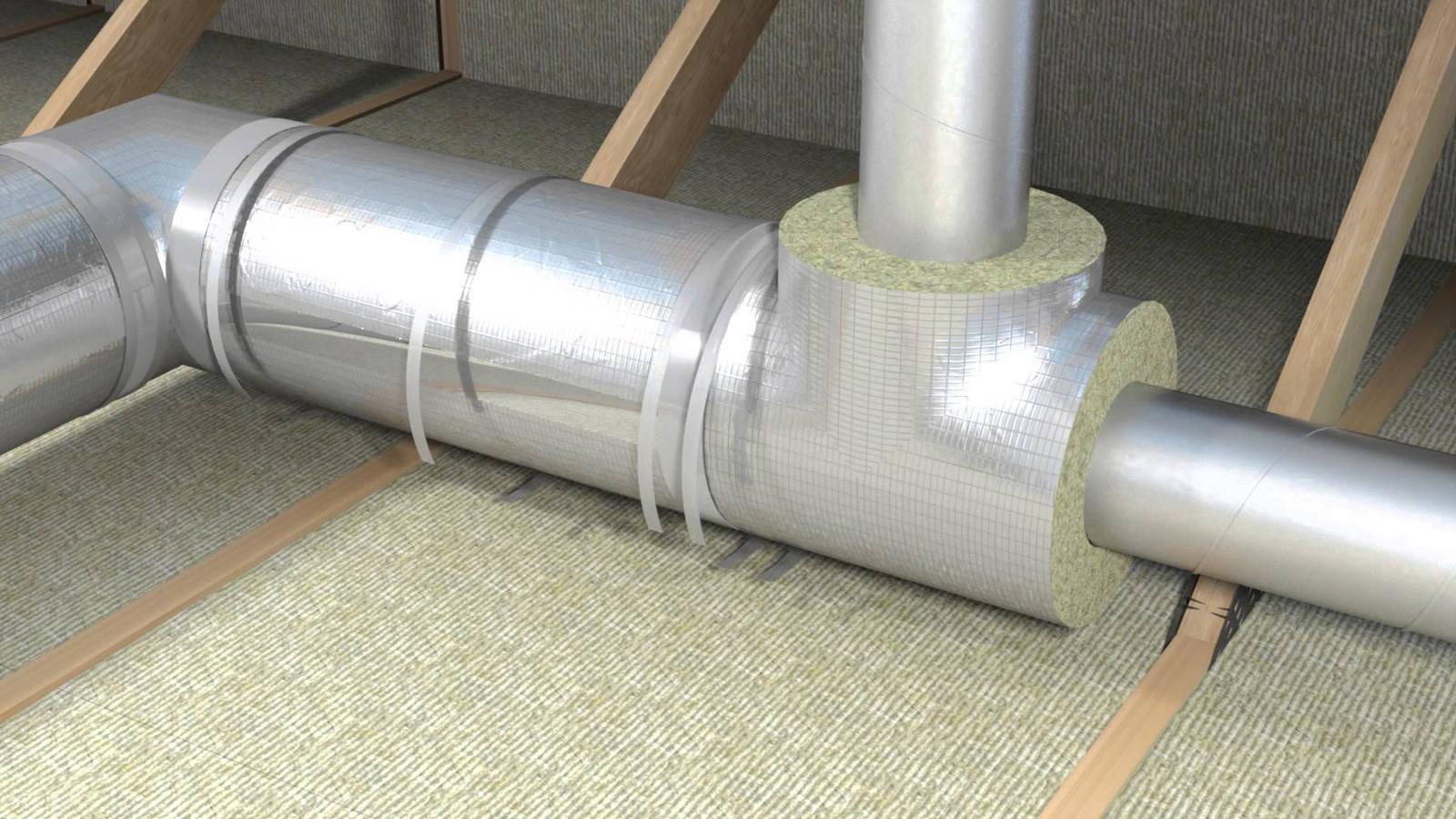 Теплоизоляция наружных воздуховодов вентиляции