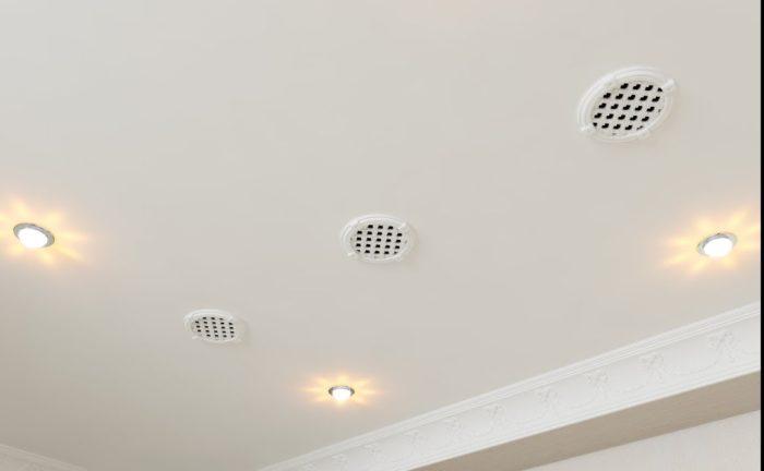 вентиляция в натяжном потолке