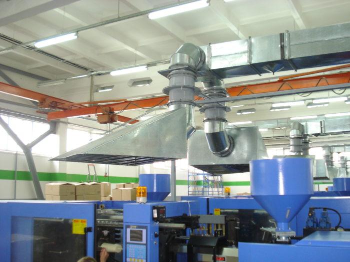 системы вентиляции производственного цеха