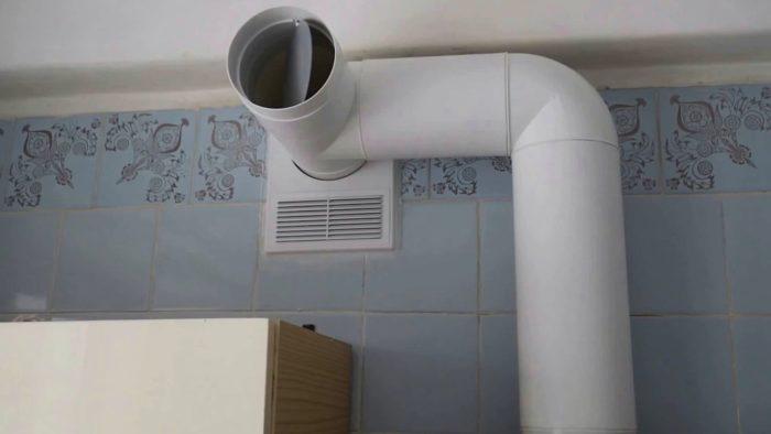 монтаж обратного клапана вентиляции