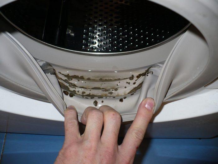 загрязнение стиральной машинки