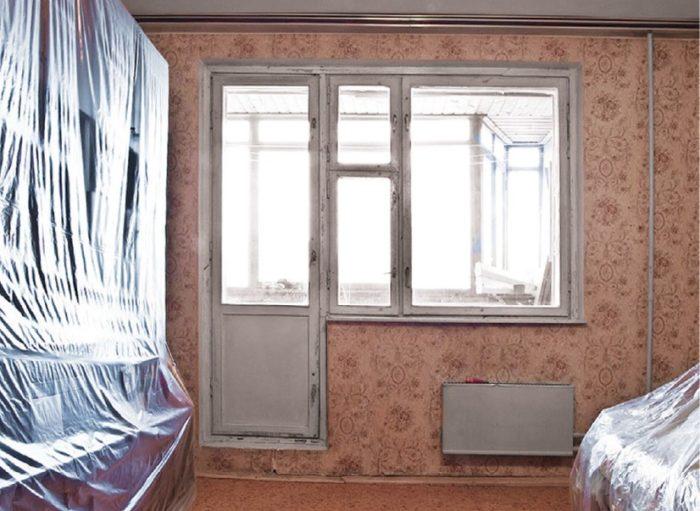 покрываем мебель пленкой