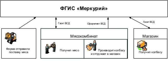 работа системы Меркурий