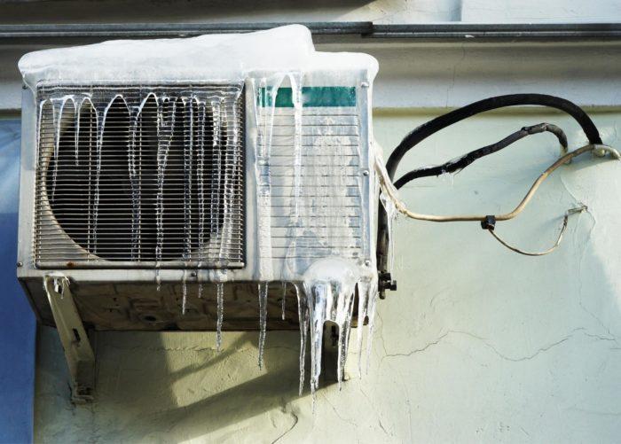 режим обогрева на кондиционере в зимнее время