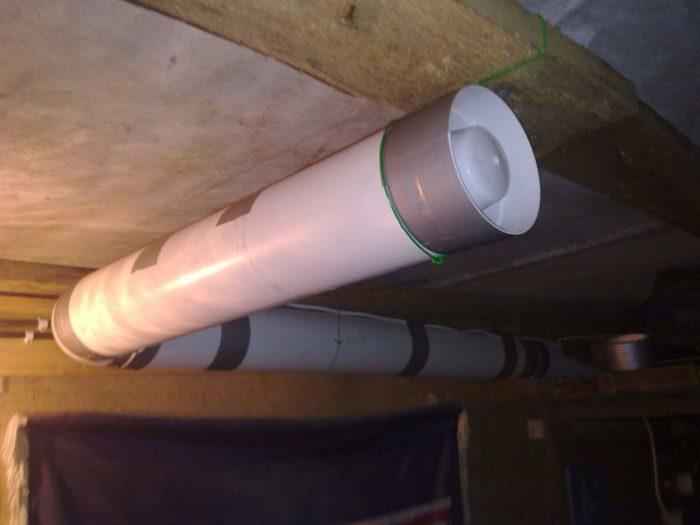 схема вентиляции в гараже
