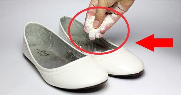 белая глина для обуви