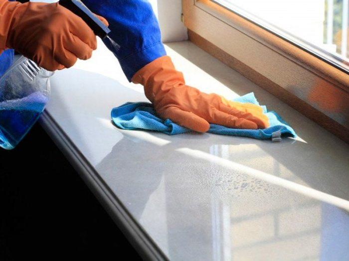 как отмыть пластиковый подоконник