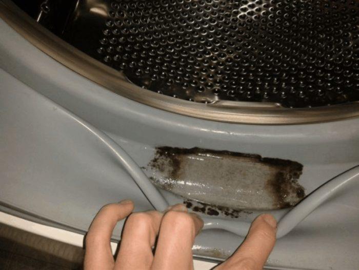 очистка манжеты стиральной машинки