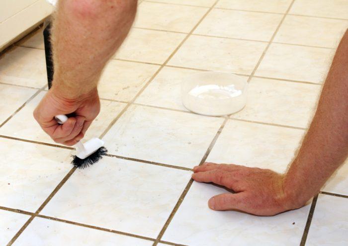 как очистить швы на плитке