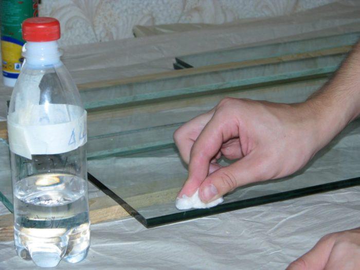 как сделать матовое стекло самому