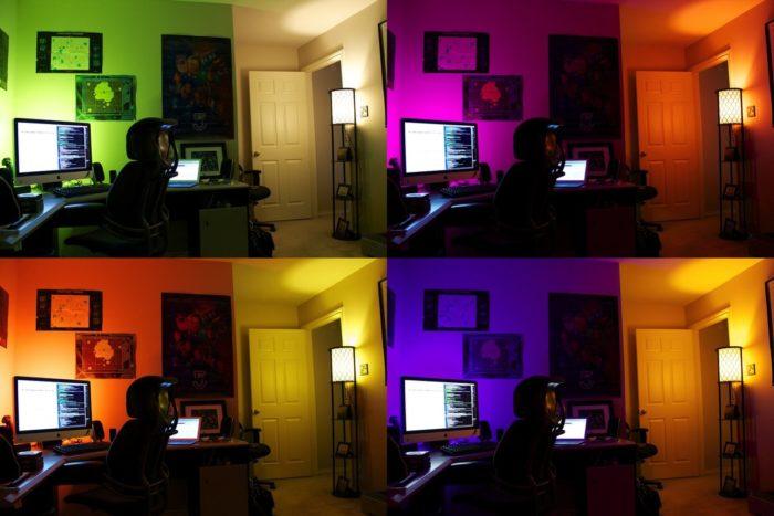 умные лампочки цветные