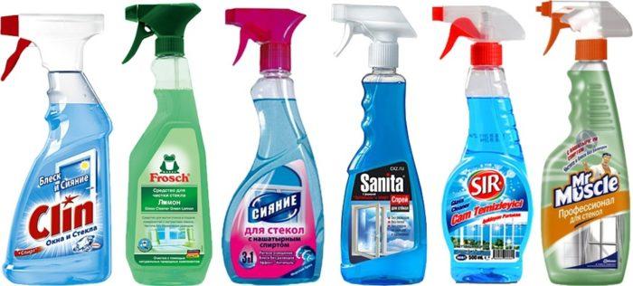 бытовая химия для мытья пластика