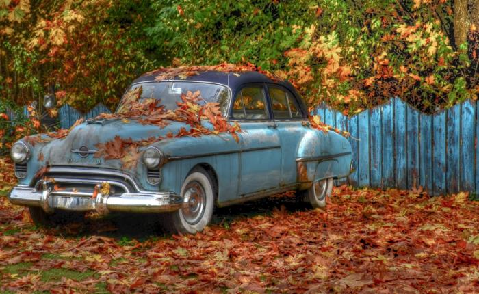 Автомобиль на даче