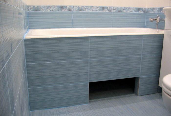 Стационарная конструкция под ванной