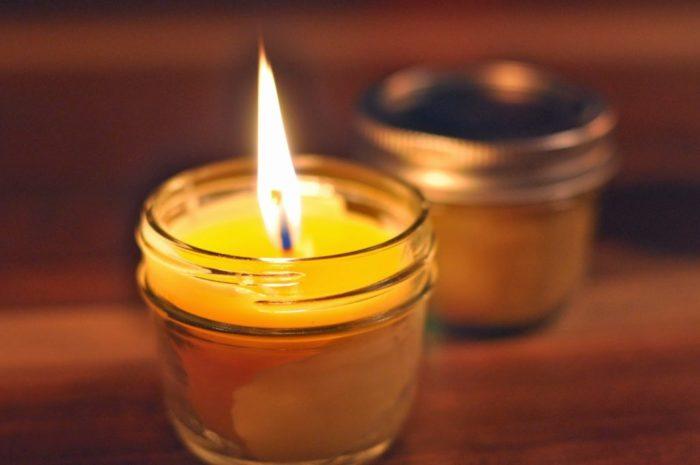 Как отопить комнату свечой