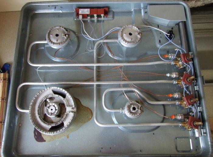 устройство встраиваемой газовой плиты