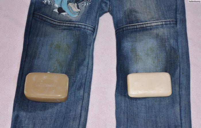 выводим краску хозяйственным мылом