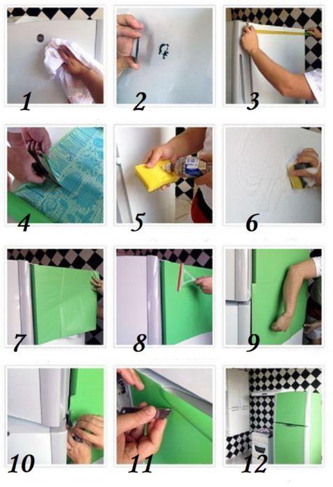Как обновить фасад самоклеящейся пленкой