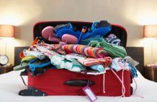компактно сложить вещи в чемодан