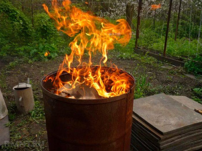 Правила сжигания мусора на участке