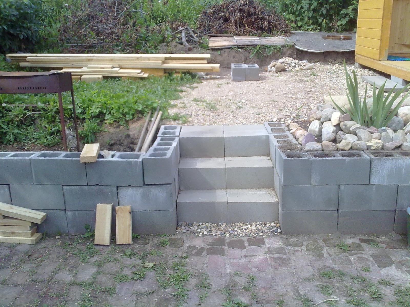 как сделать крыльцо из блоков