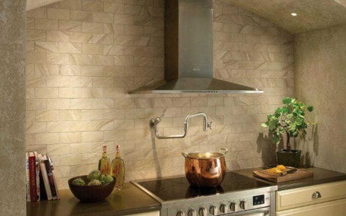 Чем отделать кухню вместо плитки