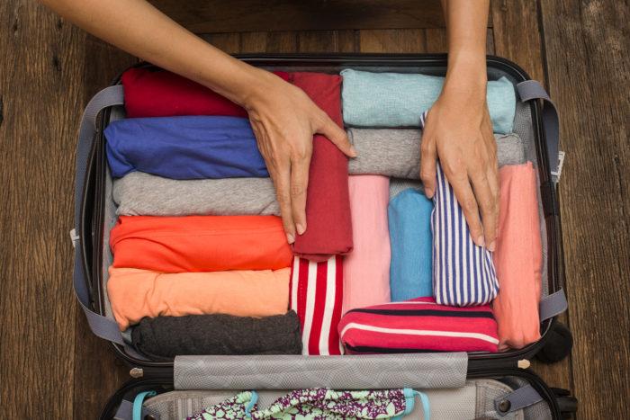 Компактно сложить чемодан