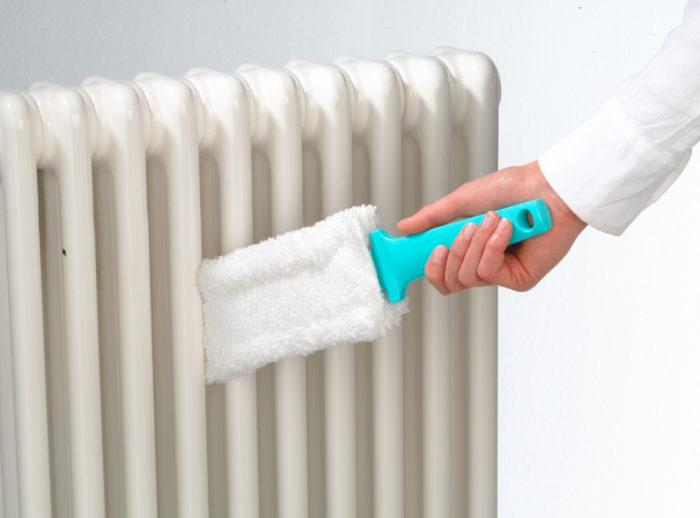 Специальное приспособление для мытья радиаторов отопления