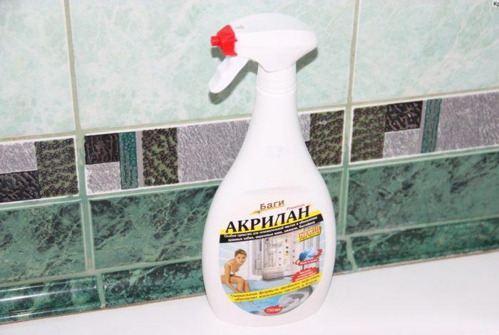 Средство для чистки акриловой ванны