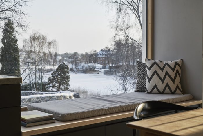 Вид из окна в Швеции