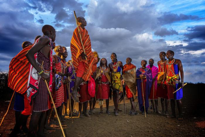 племя масаи в Кении