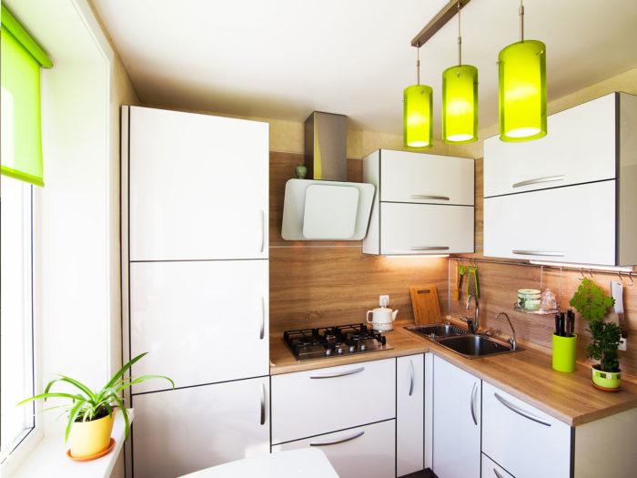 Вариант организации пространства а маленькой кухне