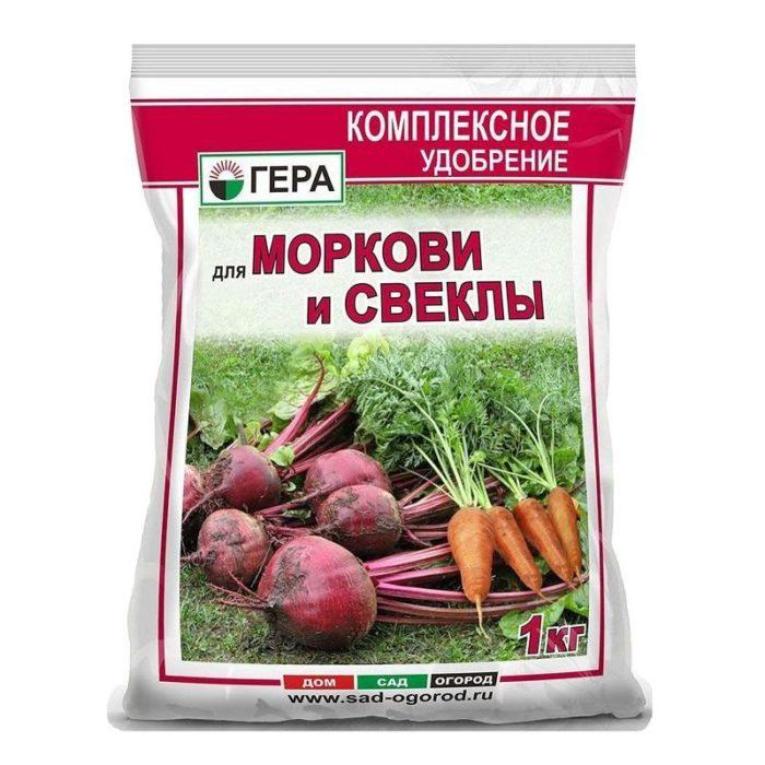 удобрение гера для моркови