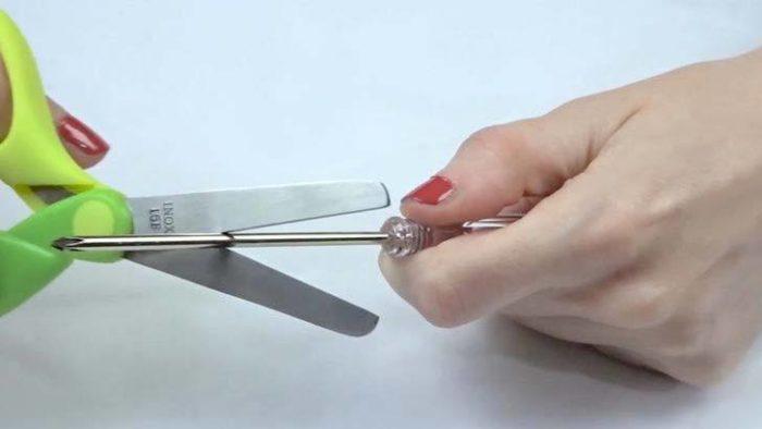 заточка ножниц отверткой