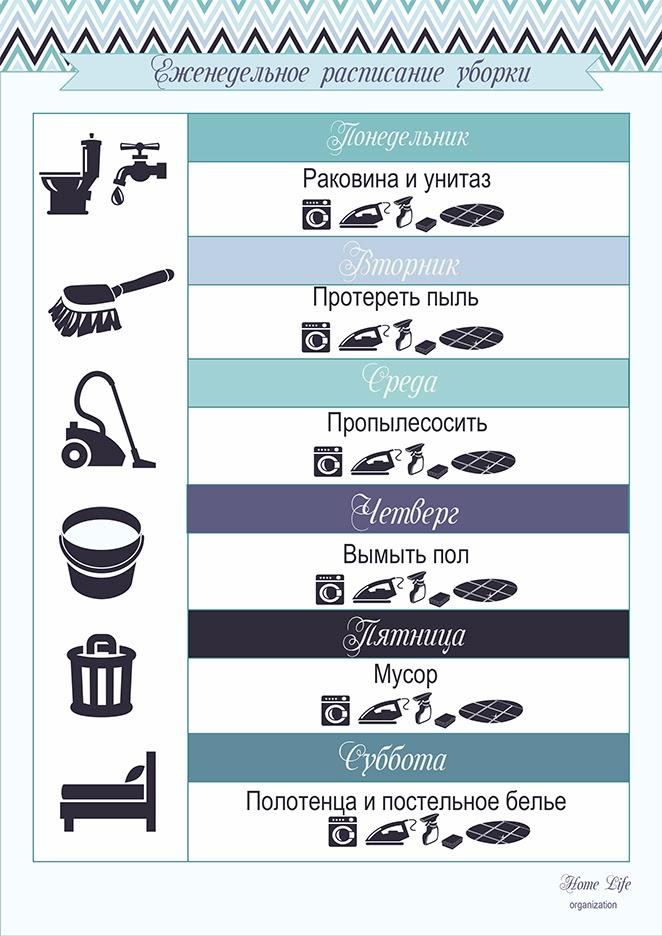 умный план уборки
