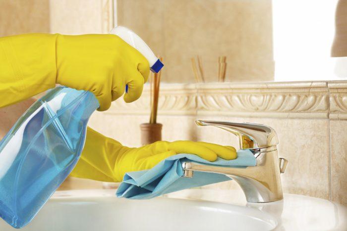использование моющих средств в ванной комнате