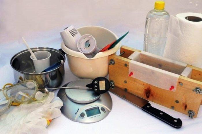 инструменты для приготовления мыла