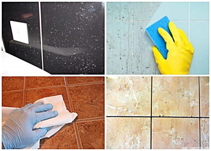 очистка плитки в ванной комнате