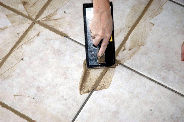 затирка для плитки на полу