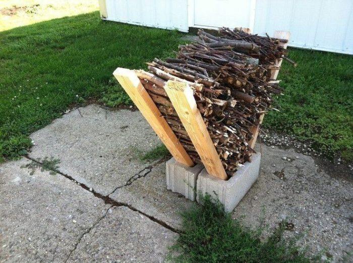 хранилище для дров из шлакоблока