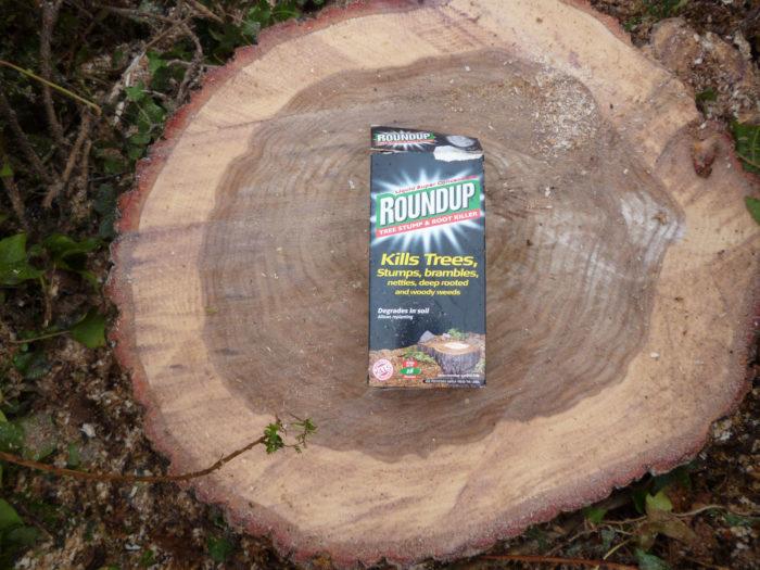 Роундап гербицид для удаления пня