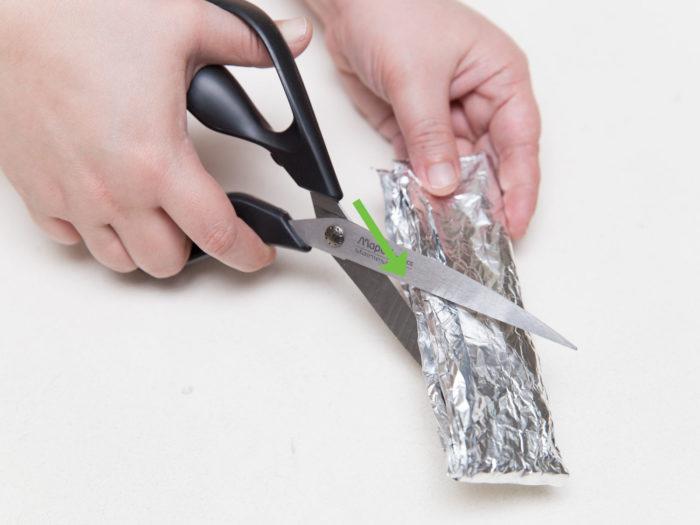 заточка ножниц фальгой